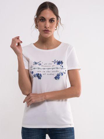 Ženska majica sa floralnim motivom