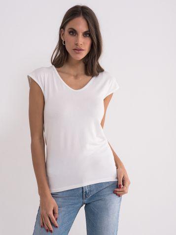 Jednobojna bela majica