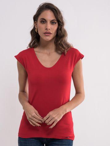 Jednobojna crvena majica