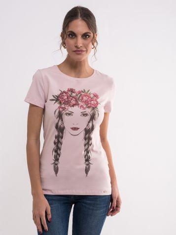 Majica sa printom devojke