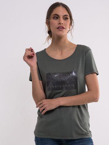 Maslinasto zelena ženska majica