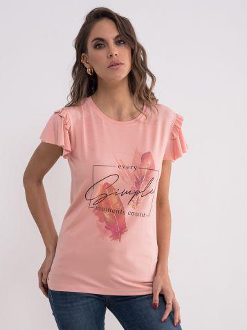 Prljavo roza majica sa karnerima