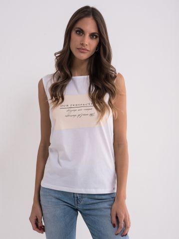 Pamučna majica bez rukava