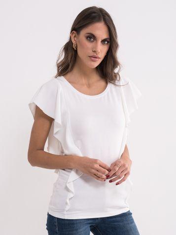 Bela majica sa zanimljivim rukavima