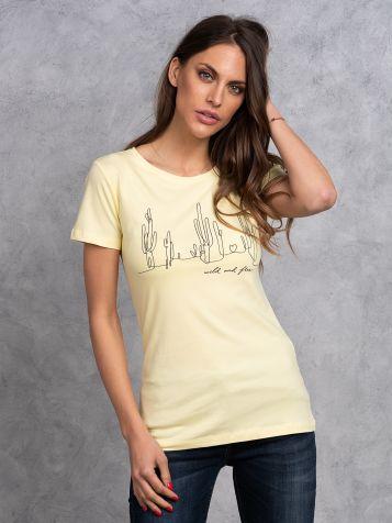 Žuta majica sa kaktusima
