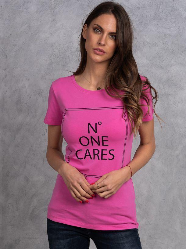 Ciklama majica sa natpisom