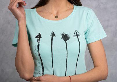 Ženska svetlo tirkiz majica