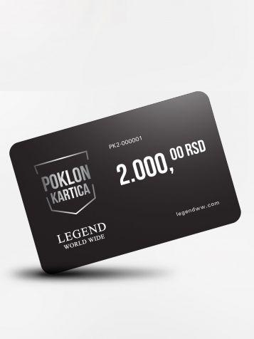 Poklon kartica 2000 dinara