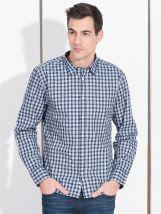 Plava muška karirana košulja