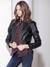 Kratka crna ženska jakna