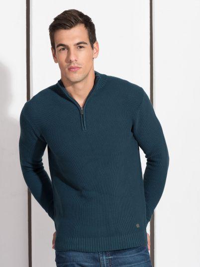Tamno tirkiz džemper