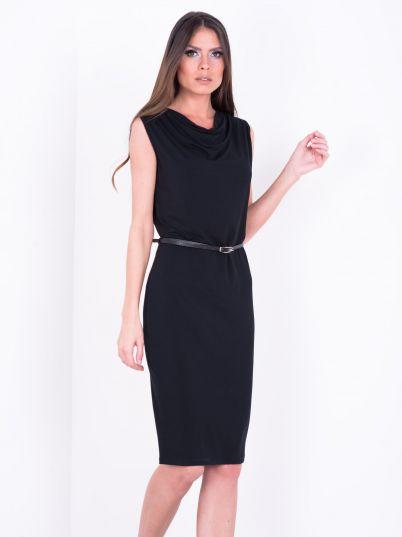 Crna haljina sa kaišem