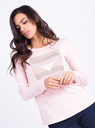 Roze elegantna majica